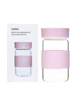 Simple High Borosilicate Glass Water Bottle 340ml