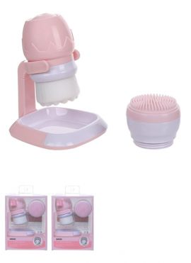 Soft Exfoliating Cleansing Brush (Includes Holder & Silicone Brush Head)