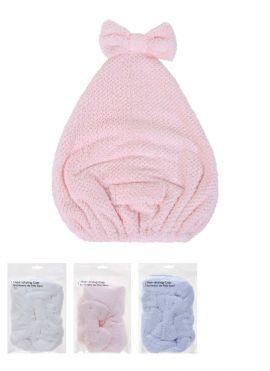 Bowknot Hair Drying Cap