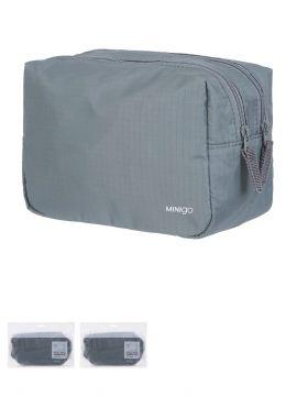 Minigo Portable  Double Zipper Cosmetic Bag