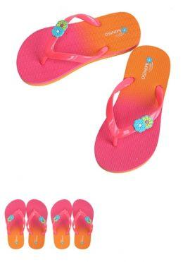Gradient Color Children's Flip Flops (Red+Orange)