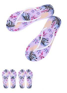 Women's Floral-print Flip Flops [40/41]