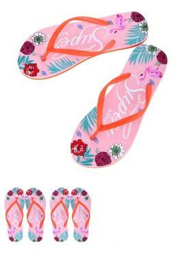 Women's Floral-print Flip Flops
