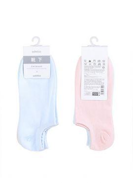 Women's Solid Color Low-cut Socks 3 Pairs (Pink&Blue&Mint)
