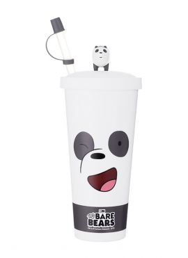 We Bare Bears - Water Bottle with Straw (Type B)
