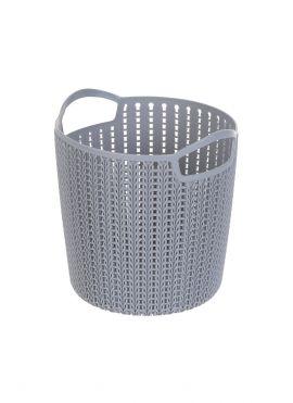 Small Plaited Round Storage Bucket