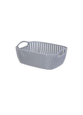 Medium Plaited Rectangular Storage Bucket