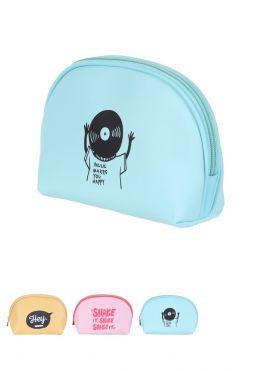 Semicircle Cosmetic Bag