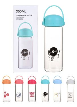 High Borosilicate Glass Water Bottle 300ml
