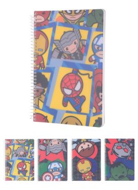 Marvel Collection - Wire bound Book 100 Sheets, Type A, Mixed Design