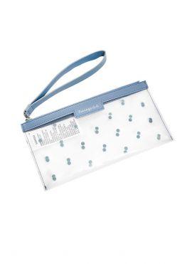 Transparent Polka Dots Clutch Bag