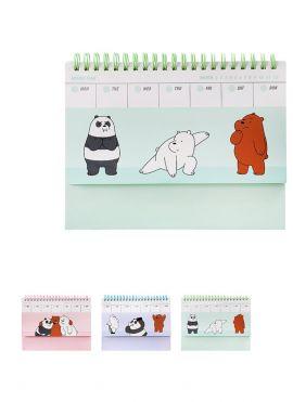 We Bare Bears Weekly Planner