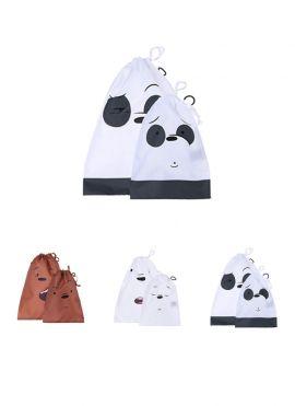 We Bare Bears Drawstring Bag 2 pack