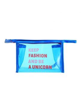 Clutch Bag ( Blue - Transparent )