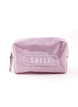 Cosmetic Bag with Shell Text