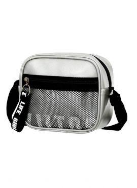 Rectangle Crossbody Bag with Net Pocket