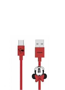 Minnie Mouse Collection 1m Woven Type-c Data Cable (Red)