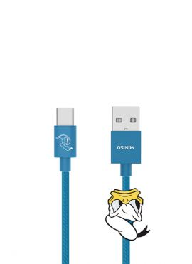 Donald Duck Collection 1m Woven Type-c Data Cable (Blue)
