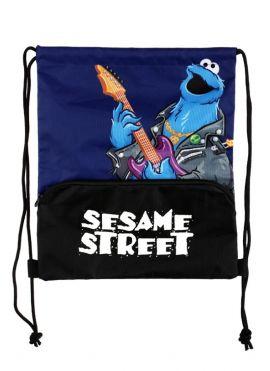 Sesame Street Rock Drawstring Bag (Cookie Monster)