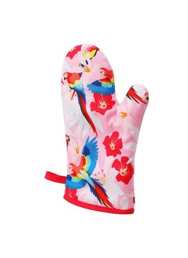 Garden Party Series Printing Oven Glove (Parrot, Pink)