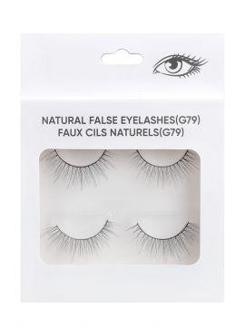 Natural False Eyelashes - 2 pairs - G79