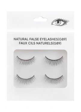 Natural False Eyelashes - 2 pairs - G89