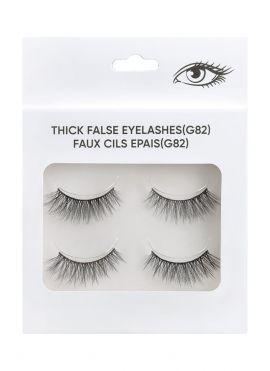 Thick False Eyelashes - 2 pairs - G82