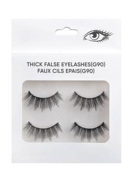 Thick False Eyelashes - 2 pairs - G90