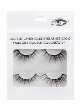 Double Layer False Eyelashes - 2 pairs - G104
