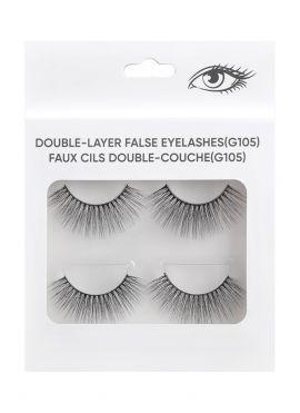 Double Layer False Eyelashes - 2 pairs - G105