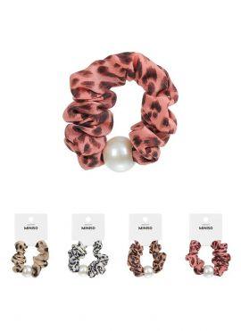 Leopard Print Pearl-like Hair Tie