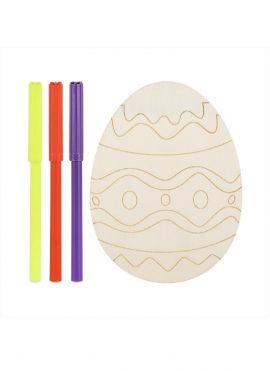Wooden Coloring Set (Easter Egg)