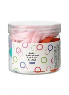 Towel Ring Rubber Band in Bucket 25pcs (Colored)