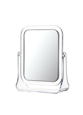 Square Double Sided Rotation Vanity Mirror (2× Magnification)