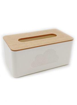 Imitation Wood Pattern Tissue Box (L)