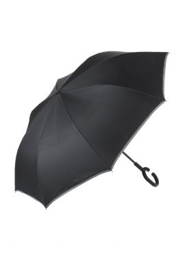 Business-style Double-layer Reverse Folding Umbrella with Long Handle